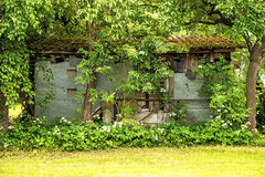 Hidden barn Stock Images