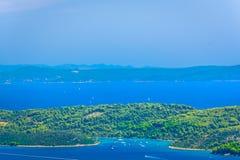 Hidden bay on Island, Croatia. stock photos