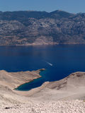 Hidden bay on Pag isle Stock Photography