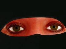 Hidden behind the veil. Or hijab beauty or the beast Stock Photos