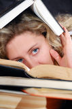 Hidden in books Stock Photography