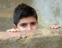 Hidden Boy Royalty Free Stock Photos