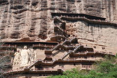 Hidden Buddha cave. This picture has a lot of cave, the cave has a Buddha each Stock Photography