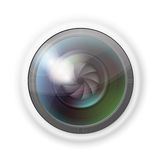 Hidden camera lens. Vector illustration of hidden photocamera lens on white background Royalty Free Stock Images