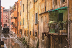 Hidden canal in Bologna Italy Royalty Free Stock Photography