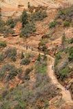 Hidden Canyon Hikers Stock Photos
