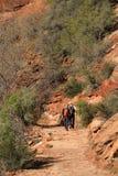 Hidden Canyon Hikers Royalty Free Stock Photo