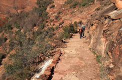 Hidden Canyon Hikers Royalty Free Stock Photography