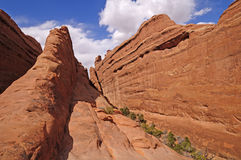 Hidden Canyon in Red Rock Country Royalty Free Stock Photo
