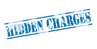 Hidden charges blue stamp Royalty Free Stock Photography