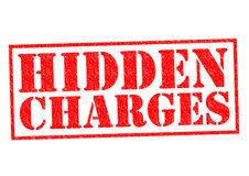 HIDDEN CHARGES Royalty Free Stock Photo