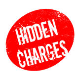 Hidden Charges rubber stamp Royalty Free Stock Photo