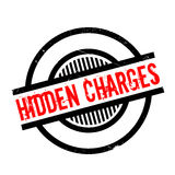 Hidden Charges rubber stamp Stock Photography