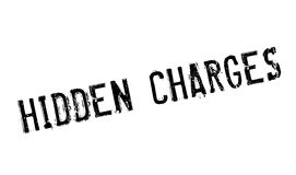 Hidden Charges rubber stamp Royalty Free Stock Images