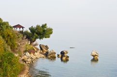 Hidden coastal viewpoint Royalty Free Stock Images