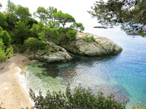 Hidden creek in Costa Brava Royalty Free Stock Images
