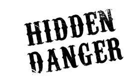 Hidden Danger rubber stamp Stock Photography