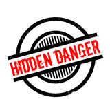Hidden Danger rubber stamp Royalty Free Stock Photography