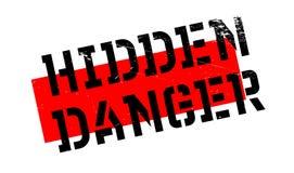 Hidden Danger rubber stamp Stock Image