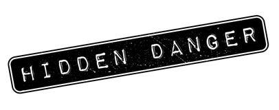 Hidden Danger rubber stamp Royalty Free Stock Images
