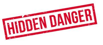 Hidden Danger rubber stamp Stock Images