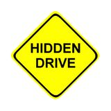 Hidden drive sign. A computer generated image Royalty Free Stock Photo