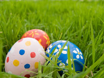 Hidden easter eggs Stock Images