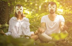 Hidden from everything, they have a day for themselves royalty free stock photos