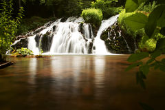 HIDDEN EXOTIC WATERFALL royalty free stock image