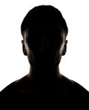 Hidden face. In the shadow.male person silhouette stock images