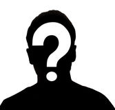 Hidden face. In the shadow.male person silhouette stock image