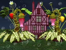 Hidden fairy house background Royalty Free Stock Images