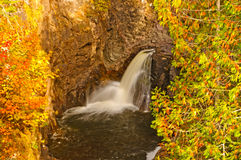 Hidden Falls in the Autumn Stock Photos