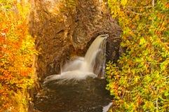 Hidden Falls in the Autumn Stock Photos