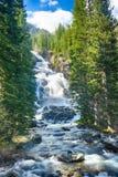 Hidden Falls. Beautifull Hidden Falls waterfall not far from Lake Jenny. Grand Teton National Park. Wyoming, USA stock image