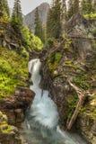 Hidden Falls Below Angel Wing Mountain Stock Image
