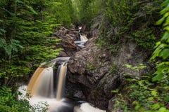 The Hidden Falls of Cascade River Royalty Free Stock Photo