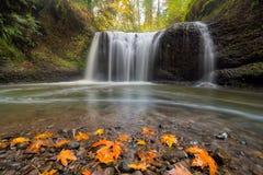 Hidden Falls in Clackamas Oregon USA. Hidden Falls in Clackamas County Oregon in Fall Season USA America Royalty Free Stock Image