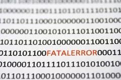Hidden Fatal Errors in the code Stock Photo