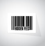 Hidden fees barcode sign concept Stock Images