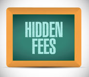 Hidden fees board sign concept illustration Royalty Free Stock Images