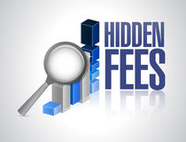 Hidden fees business graph sign concept Stock Image