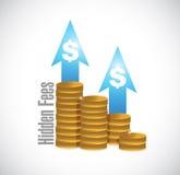 Hidden fees coin graph sign concept Royalty Free Stock Photo