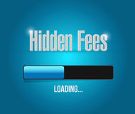 Hidden fees loading sign concept illustration. Design graphic Stock Image