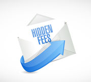 Hidden fees mail sign concept illustration Royalty Free Stock Photography