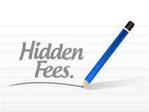 Hidden fees message sign concept. Illustration design graphic Stock Photo