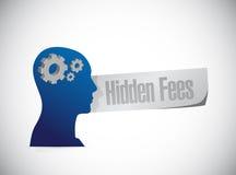 Hidden fees people sign concept Stock Photos