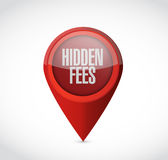 Hidden fees pointer sign concept Royalty Free Stock Images