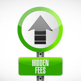 Hidden fees road sign concept Stock Photography