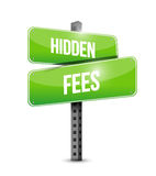 Hidden fees road sign concept illustration Royalty Free Stock Photography